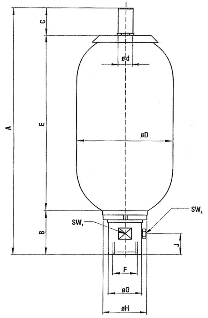 Abmessungen Blasenspeicher-dt